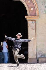 Guy at Iglesia Santa Ana de Miraflores, Maca (ghostwheel_in_shadow) Tags: america colcacanyon ff guygoodwin iglesiasantaanademiraflores maca peru southamerica absurd amusing comical family funny humorous laughable ridiculous arequipa pe