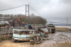 Boat yard on the Humber (Peter Warne-Epping Forest) Tags: humberside humber boats boatyard landscape mud rain clouds