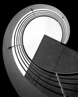 Minimal, spiral staircase