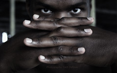 174_7440h (Defever Photography) Tags: black male fingers face eyes nails portrait