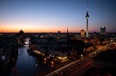 Good Night, Berlin (Chris Buhr) Tags: berlin stadt city view blick blue hour blaue stunde nacht night dunkelheit dark lights citylights light leica m10