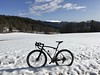 A Volagi Viaje In The Snow (29in.CH) Tags: spring gravel bike ride 07042018 snow view blue sky chasseral