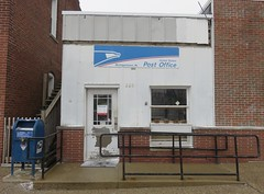 Post Office 46057 (Michigantown, Indiana) (courthouselover) Tags: indiana in postoffices clintoncounty michigantown
