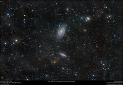 M81, M82 and The Integrated Flux Nebula (annotated) (Terry Hancock www.downunderobservatory.com) Tags: qhy qhy367c astronomy astrophotography astroimaging sky space cosmos