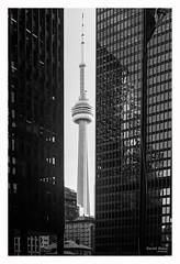CN Tower - A day in Toronto (KaushikBiswas28) Tags: street toronto cntower 6ix monochrome canoncanada film analog filmisstillalive downtowncamera streetsoftoronto ishootfilm iluvfilm cityscape stilllife fatalframes framedtoronto imagesoftoronto streetphotography urban streetvision downtown kingst