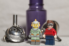 Dick Grayson (a.k.a. Robin) and Rocket Man (N.the.Kudzu) Tags: tabletop lego minifigures robin rocket man canondslr lensbabyedge50 lightroom