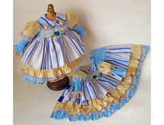 dress doll (42OLLYFWQKEL5ZIVS4JINXDMNN) Tags: dollclothing 15inchdolloutfit clothesfordolls layered pleateddress