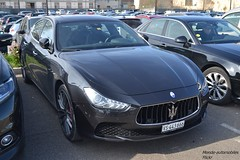 Maserati Ghilbi (Monde-Auto Passion Photos) Tags: voiture vehicule auto automobile maserati ghilbi berline noir black sportive rare rareté france fontainebleau