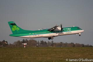 Aer Lingus Regional ATR72-600 EI-FNA getting airbourne off RWY17 Cork yesterday on it's way to Newcastle.