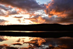 Orange world (Sunset Master) Tags: sunset orange lake bomoseen vermont landscape nikon d7200 reflections nature mountains clouds weather surreal