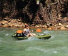 Kayaker  on Buffalo River - Downstream from Ponca, Arkansas (danjdavis) Tags: kayaker kayak kayaking arkansas buffaloriver buffalonationalriver