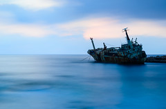 When the Edro III met the Big Stopper (George Plakides) Tags: edroiii wreck peyia paphos leebigstopper