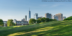 Governors Island Compression (20180525-DSC07291) (Michael.Lee.Pics.NYC) Tags: newyork governorsisland lowermanhattan wtc onewtc worldtradecenter architecture cityscape skyline hill sony a7rm2 fe24105mmf4g