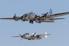 B-17 & B-25 (Trent Bell) Tags: lancaster foxairfield airport losangelescounty airshow 2018 california aircraft boeing b17 flyingfortress sentimentaljourney warbird northamerican b25 photofanny