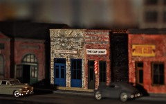 Billiards & Pool (Professor Bop) Tags: professorbop drjazz olympusem1 olympusm75mmf18 primelens modelrailroad sscale sgauge buildings structures models depthoffield dof miniatureautomobiles cars vehicles modeltrains