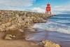 Herd Groyne Long Exposure (robinta) Tags: sea ocean water seascape coast tide waves surf longexposure southshields england ngc canon shore lighthouse herdgroyne landmark architecture historic rocks blur flower