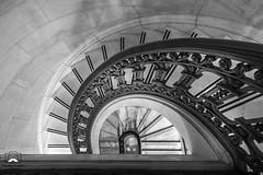 Circular (allentimothy1947) Tags: architechure art blackandwhite califonia city onekearney places sanfrancisco bw buildings cirular floors interior interiors iron marble metal ornate rail round stairs steps