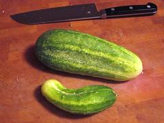 Cucumbers (pr0digie) Tags: cucumber vegetable cuttingboard santoku knife