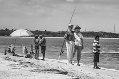 Fort Macon NC - A Day At The Beach (Modkuse) Tags: beach fortmacon fortmaconbeach fortmaconnc people monochrome bw blackandwhite nikon nikondslr nikond700 nikkor nikkor70210mmf4056 sunny