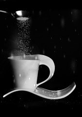 Coffee time (Victor Mitri) Tags: sugar highspeed sync coffee hot vape vapor bw cup plate winter mood