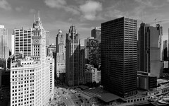 Michigan Avenue (uncledougie) Tags: chicago wrigleybuilding monochrome city urban architecture michigan avenue