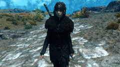 Traveling (Loneranger05) Tags: skyrim enb nightingale lotr angmar sword witchking female character beautiful nord