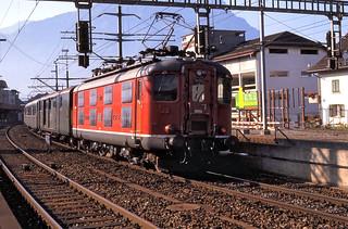 Schwyz Re4/4i 10014 Luzern to Airolo 17th Aug 88 C11344