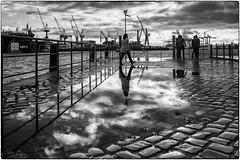 Harbor atmosphere (ingrid.lowis) Tags: bw monochrom street hamburg harbour schwarz weis