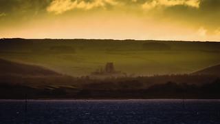 Corfe Castle Across The Harbour