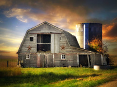 Abandoned 6 (mrbillt6) Tags: landscape rural prairie barn silograssfield sky outdoors country countryside northdakota