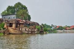 Shipwreck in the Chao Phraya river surrounding Ayutthaya, Thailand (UweBKK (α 77 on )) Tags: ship shipwreck wreck chao phraya river water flow ayutthaya island province thailand southeast asia sony alpha 77 slt dslr