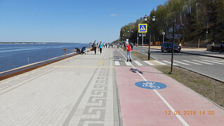 This is the new Volga river embankment in Cheboksary