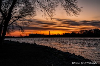 Sunsetting over the Rock River Sterling Illinois