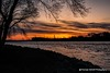 Sunsetting over the Rock River Sterling Illinois (Thomas DeHoff) Tags: water sunset rock river sterling falls sony a700