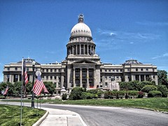 Boise Idaho - State Capitol Building - Historical (Onasill ~ Bill Badzo) Tags: idaho us usa america boise id state capitol statehouse dome historic nrhp register roman skylight senate room chambers attraction tours travel visit boisecounty marble italy georgia st peters pauls washington dc waking tour guided site onasill looks tremendous love those yellow ribbons tied around pillars architecture building outdoor rotunda monument