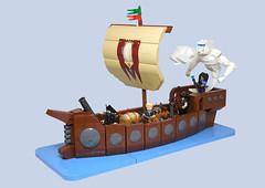 Air Elemental Boat (vitreolum) Tags: lego vitreolum airelemental boat ship