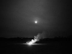 (JC.Murphy) Tags: lygnern sätila sweden sverige gothenburg göteborg farm school easter montessori påsk fire bonfire spring bw olympus omd em5ii zuiko 12mm smoke moon fullmoon vsco