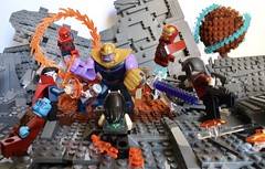 Battle on Titan (wacthsky) Tags: moon portal legoavengersinfinitywar legoavengers legocustom awesome strange doctor spider man iron lord star thanos titan battle moc custom lego war infinity avengers