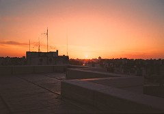 untitled. (▲rwed) Tags: montevideo uruguay latinamerica rooftop sunset latinoamerica travel yashicat5 analog film kodak
