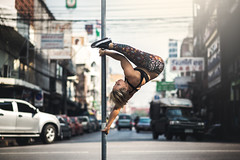 (dimitryroulland) Tags: nikon d600 poledance poledancer pole dance dancer bangkok asia trip thailand travel natural light city urban street performer art artist pointe sport fit