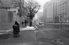 "Anonymity: The loneliness of the street (Xsbmrnr (Please read profile before ""following"") Tags: street streetphotography streetpeople hamilton hamiltonontario blackandwhite bandw acros100 acros 35mm 35mmfilm olympusom1 om1 hamont zuiko zuiko35mm hc110"