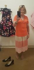 Well I had to buy something (krislagreen) Tags: tg transgender transvestite xdresser crossdresser skirt orange pink femme feminiztation femininized