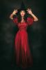 Sorceress (Pawel Wietecha) Tags: sorceress witch girl woman red black lowkey face emotions dress dark art studio light new people portrait