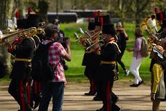The Queen's 2018 Birthday gun salute - 21 (D.Ski) Tags: 2018 queens queen birthday gun salute royal park horse horses april westminster london nikon 2470mm 200500mm thekingstrooprha thekingstroop parade thequeen hydepark d700 nikond700