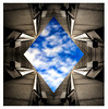 Harley Courtyard (nikonmike99) Tags: harley bluesky graphic symmetrical architectural