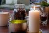 Gemütlich drinnen sitzen und Kaffee trinken ... (Sockenhummel) Tags: cafeverweiledoch kerze pankow kerzenlicht cafe restaurant schaufenster schale licht kaffee fuji x30 candle candlelight
