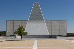 In the Future (.sanden.) Tags: blue trees us unitedstates architecture building colorado airforceacademy sky empty landmark outdoor noperson daytime pyramid grass flora modern outdoors plant large travel top daylight headquarters green art lot flower concrete standing ikebana landscape field construction