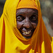 Portrait of a somali woman in yellow hijab, North-Western province, Berbera, Somaliland