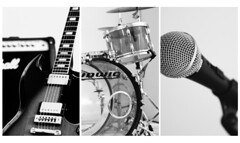 Let There Be Rock (RADfotoX) Tags: dogwood dogwood52 dogwood52week14 dogwood2018 dogwood2018week14 dogwoodweek14 triptych letthereberock guitar gibsonsg gibson amplifier marshallamps marshall drums ludwigdrums microphone shuremicrophone instruments canon60d niftyfifty