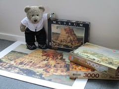 A not-so-lickle challinge! (pefkosmad) Tags: clementoni jigsaw puzzle used secondhand complete hobby leisure pastime 1000pieces 999pieces art painting fineart museumcollection tedricstudmuffin teddy ted bear animal toy cute cuddly soft stuffed plush fluffy